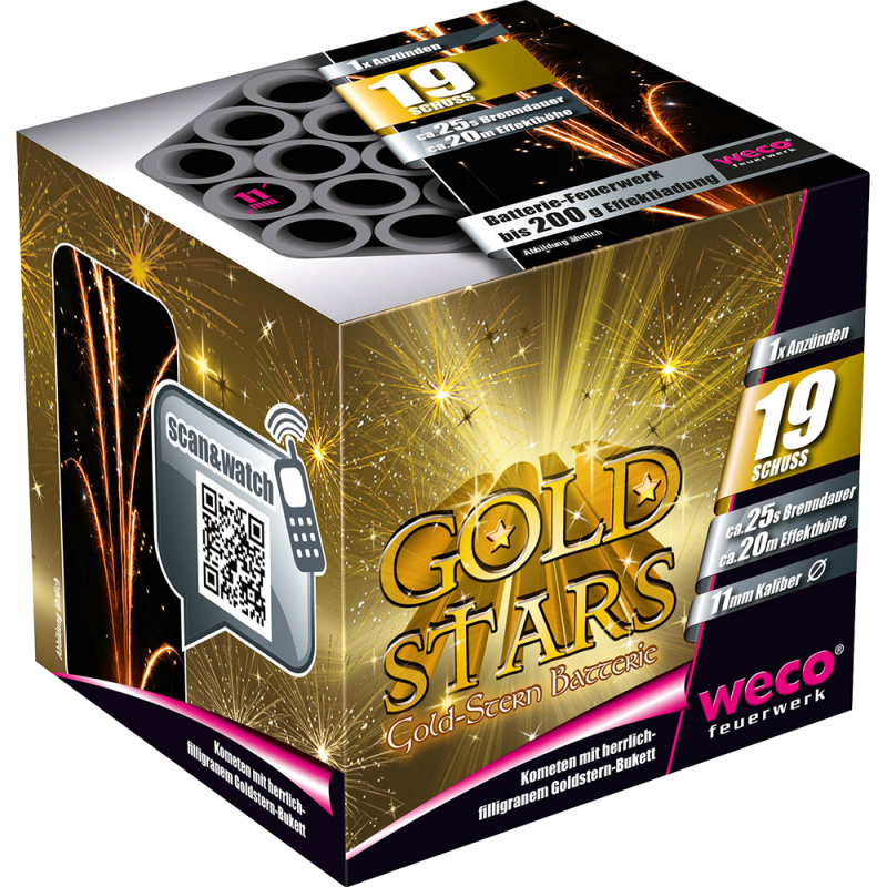 Weco Golden Stars 19 Schuss Batterie